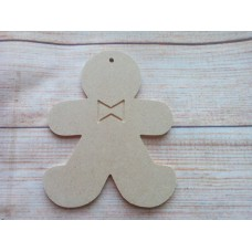 4mm MDF Gingerbread Man with Bow